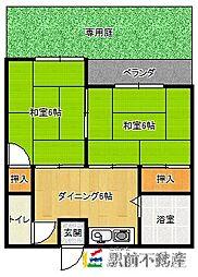 第2大丸荘[2号室]の間取り