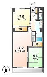 サンマンションチェリー[5階]の間取り