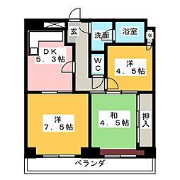 山源ハウス[2階]の間取り