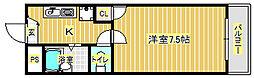 グリーンライフ箕面[4階]の間取り
