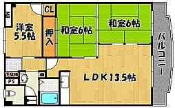 兵庫県明石市林崎町3丁目の賃貸マンションの間取り