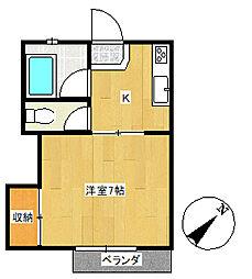 キティハウス[205号室]の間取り