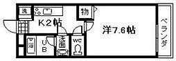 シャンテ・笠松[103号室]の間取り