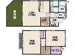 メゾネット桜町[1号室]の間取り