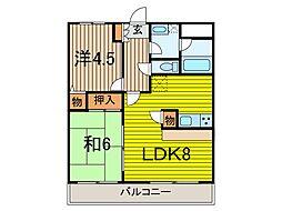 西川口パインマンションII[2階]の間取り