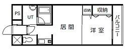 サテラ永山[707号室]の間取り