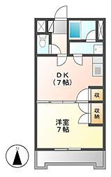 久屋グリーンビル[4階]の間取り