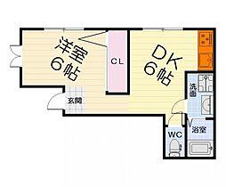 大阪府堺市西区北条町1丁の賃貸マンションの間取り
