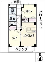 サン・ウィング[1階]の間取り