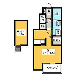 サンスプラッシュ[1階]の間取り