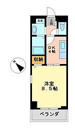 クレセール名駅[2階]の間取り