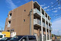 愛知県弥富市鯏浦町東前新田の賃貸マンションの外観