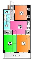 東京都板橋区舟渡2の賃貸マンションの間取り