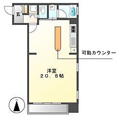泉アパートメント[11階]の間取り