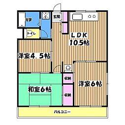 ロワールマンション[2階]の間取り