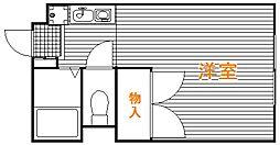埼玉県飯能市大字川寺の賃貸アパートの間取り