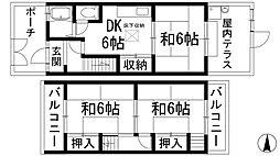 [テラスハウス] 兵庫県川西市新田2丁目 の賃貸【/】の間取り