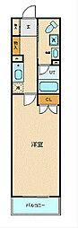 JR東海道本線 横浜駅 徒歩5分の賃貸マンション 2階1Kの間取り
