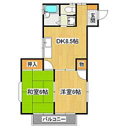 ウィステリアIII号棟[2階]の間取り