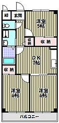 レジデンスレイク深井[4階]の間取り
