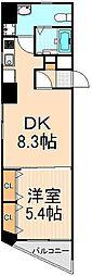 東京都台東区下谷3丁目の賃貸マンションの間取り