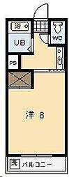 ソレイユ[106号室]の間取り