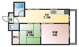 メゾン福嶋[3-E号室]の間取り