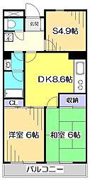 セイント武蔵小金井[1階]の間取り
