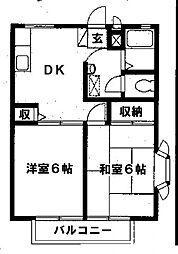 大野レジデンスA[1階]の間取り