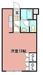 サンカープ花立花[207号室]の間取り