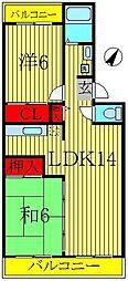 エスポアール如春堂[2階]の間取り