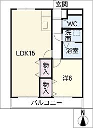 クレシア大高台[2階]の間取り