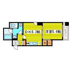 北海道札幌市東区北十六条東15丁目の賃貸マンションの間取り
