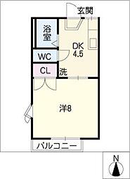 リトル リバー C棟[2階]の間取り