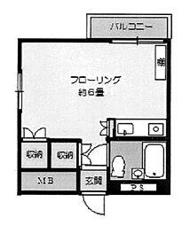神奈川県横浜市港北区篠原北1の賃貸マンションの間取り
