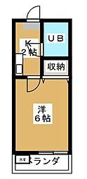 ヒルトンホリグチ[1階]の間取り