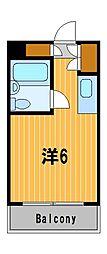 神奈川県横浜市港北区大倉山3丁目の賃貸マンションの間取り