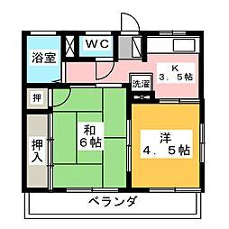パミールC[1階]の間取り