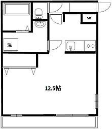 東京都目黒区東山3丁目の賃貸アパートの間取り