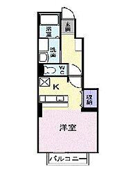 メゾン・ドゥ・シャルマン弐番館 1階1Kの間取り