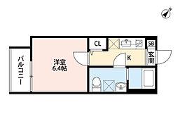 Osaka Metro谷町線 野江内代駅 徒歩4分の賃貸アパート 1階1Kの間取り