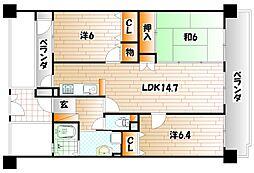 エクレール下曽根駅前II[3階]の間取り