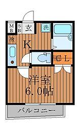東京都杉並区荻窪1丁目の賃貸マンションの間取り