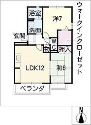 セジュール安井A棟[3階]の間取り