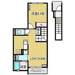 愛知県名古屋市港区高木町1丁目の賃貸アパートの間取り