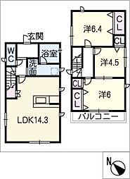 [一戸建] 愛知県名古屋市名東区本郷3丁目 の賃貸【/】の間取り