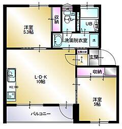 多賀台ヒルズマンションC棟[206号室]の間取り
