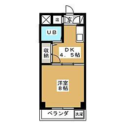 アークU[1階]の間取り