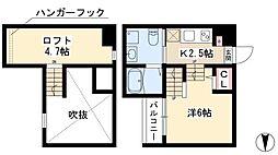 ココマンション 1階1Kの間取り