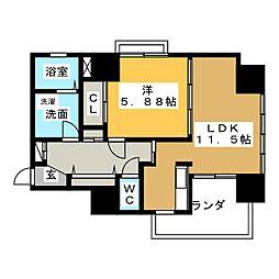 AQUA STAGE 1[3階]の間取り